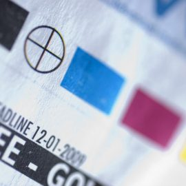 Printer registration mark and color swatches